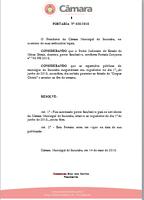 A Câmara Municipal de Ituiutaba edita a Portaria Nº 038/2018, autorizando o ponto facultativo