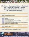 A cidade de Ipiaçu faz 54 anos, amanhã, dia 31 de agosto de 2017