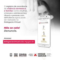 Mais uma importante ferramenta de combate à violência doméstica foi disponibilizada pelo Governo de Minas.