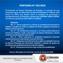 Portaria suspende algumas atividades da Câmara Municipal de Ituiutaba.