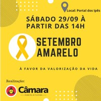 Setembro Amarelo no Portal dos Ipês em Ituiutaba