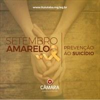 Setembro Amarelo, uma campanha de conscientização e prevenção contra o suicídio.