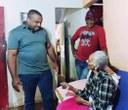 Vereador Vilsomar Paixão continua suas visitas em residências do município.